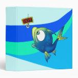 Funny Fishing Fish Vinyl Binders