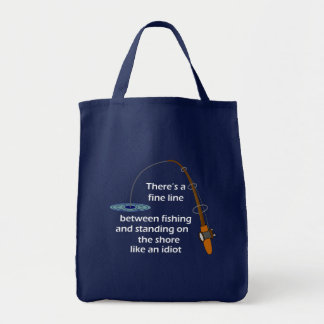 Funny Fishing Grocery Bag