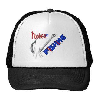 Funny Fishing Hooked On Fishing Trucker Hat