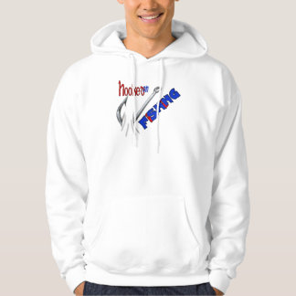Funny Fishing Hooked On Fishing Hooded Pullover