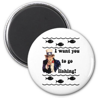 Funny fishing humor 2 inch round magnet