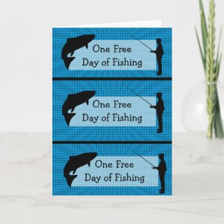 Funny Fishing Humor Coupons Father's Day Card