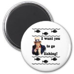Funny fishing humor magnet