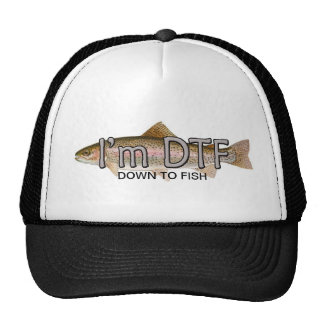 funny fishing im down to fish hat