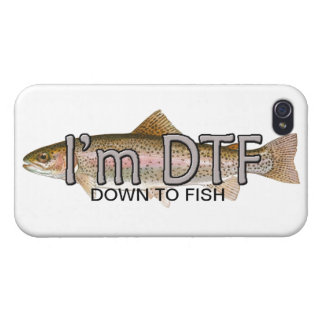 funny fishing, im down to fish iPhone 4/4S case