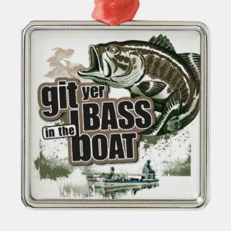 Funny Fishing Metal Ornament