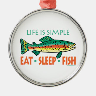 Funny Fishing Metal Ornament