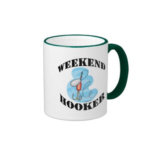 Funny Fishing Mug  Fishing Humor Weekend Hooker