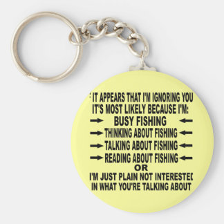 FUNNY FISHING OBSESSION BASIC ROUND BUTTON KEYCHAIN