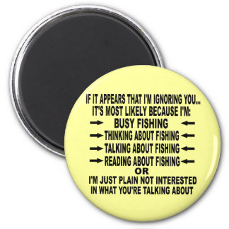 FUNNY FISHING OBSESSION MAGNET