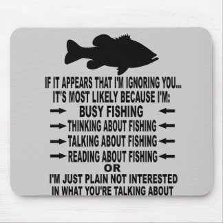 FUNNY FISHING OBSESSION MOUSE PAD