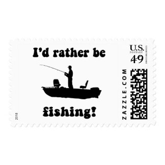 Funny fishing postage stamps