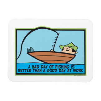 Funny Fishing Rectangle Magnets