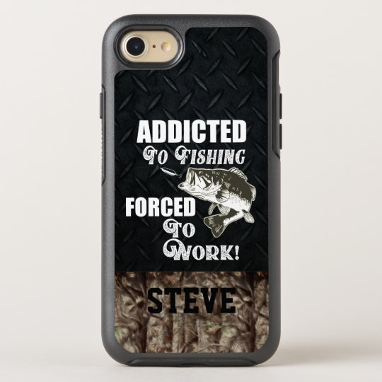 Funny Fishing Quotes Work Largemouth Bass OtterBox iPhone Case