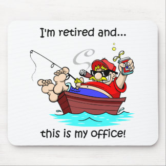 Funny fishing retirement mouse pad