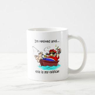 Funny fishing retirement classic white coffee mug