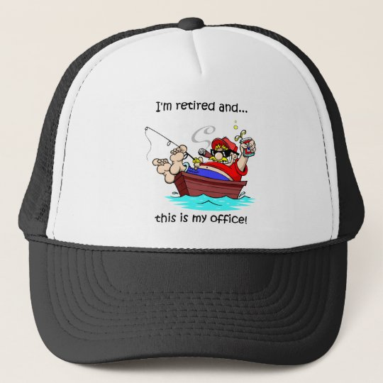 Funny fishing retirement trucker hat