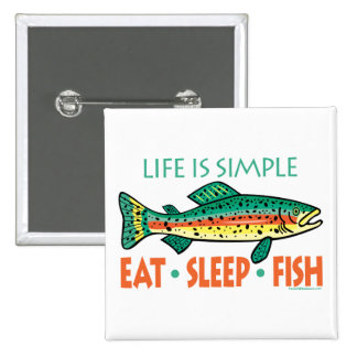 Funny Fishing Saying 2 Inch Square Button