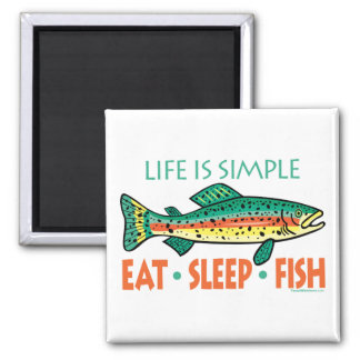 Funny Fishing Saying 2 Inch Square Magnet