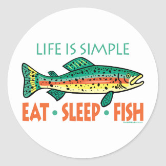 Funny Fishing Saying Classic Round Sticker