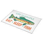 Funny Fishing Saying Cloth Placemat