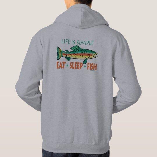 Funny Fishing Saying: Eat Sleep Fish Hoodie