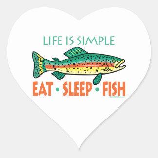 Funny Fishing Saying Heart Sticker