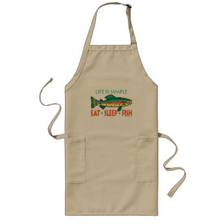 Funny Fishing Saying Long Apron