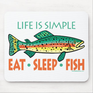 Funny Fishing Saying Mouse Pad