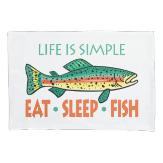 Funny Fishing Saying Pillowcase