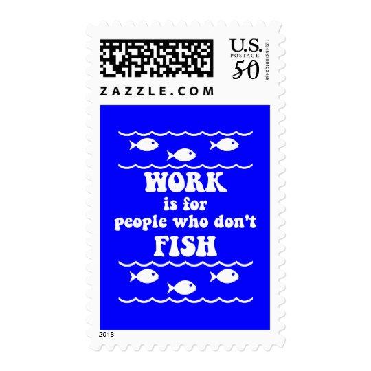 Funny fishing saying postage