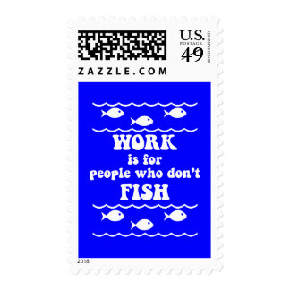 Funny fishing saying stamps