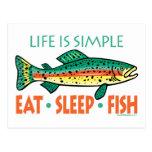 Funny Fishing Saying Postcard