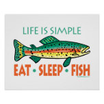 Funny Fishing Saying Poster