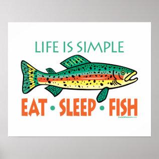 Funny Fishing Saying Poster at Zazzle
