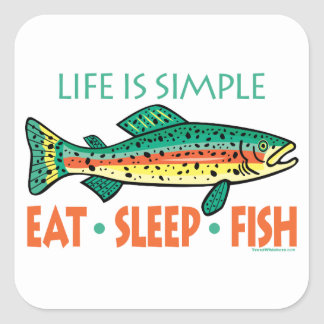 Funny Fishing Saying Square Sticker