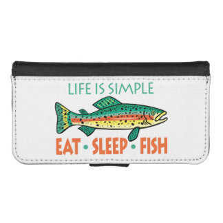 Funny Fishing Saying Wallet Phone Case For iPhone SE/5/5s