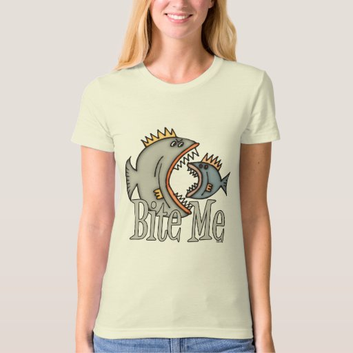 Funny Fishing Shirt Fishing Humor Fishing Bite Me