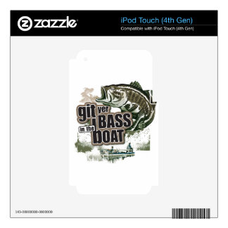 Funny Fishing iPod Touch 4G Decal