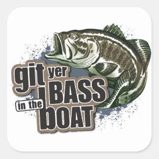 Funny Fishing Square Sticker