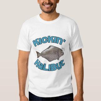 Funny Fishing T-Shirt Fishing Humor Kickin Halibut