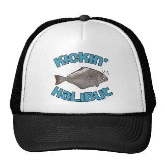 Funny Fishing T-Shirt Fishing Humor Kickin Halibut Trucker Hat