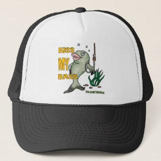 Funny Fishing T-Shirt Fishing Humor Kiss my Bass Trucker Hat