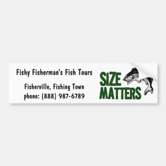 Funny Fishing Tours or Supplies Business Bumper Sticker
