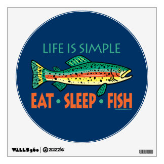 Funny Fishing Wall Sticker