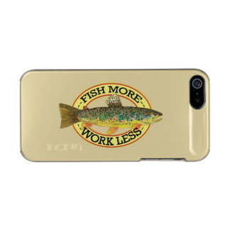 Funny Fishing Words for a Fisherman Metallic Phone Case For iPhone SE/5/5s