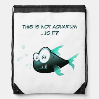 Funny Fishy Drawstring Bag