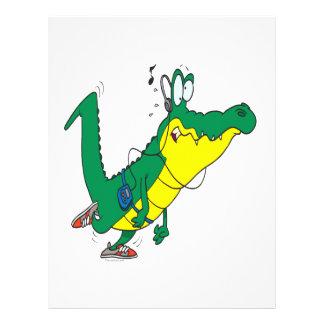 funny fitness gator alligator cartoon flyer