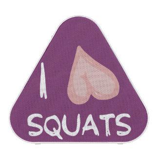 Funny Fitness Gym Humor - I Love Squats Speaker