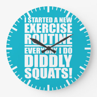 Funny Fitness Gym Large Clock